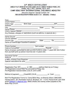 CBW Registration Form 2018