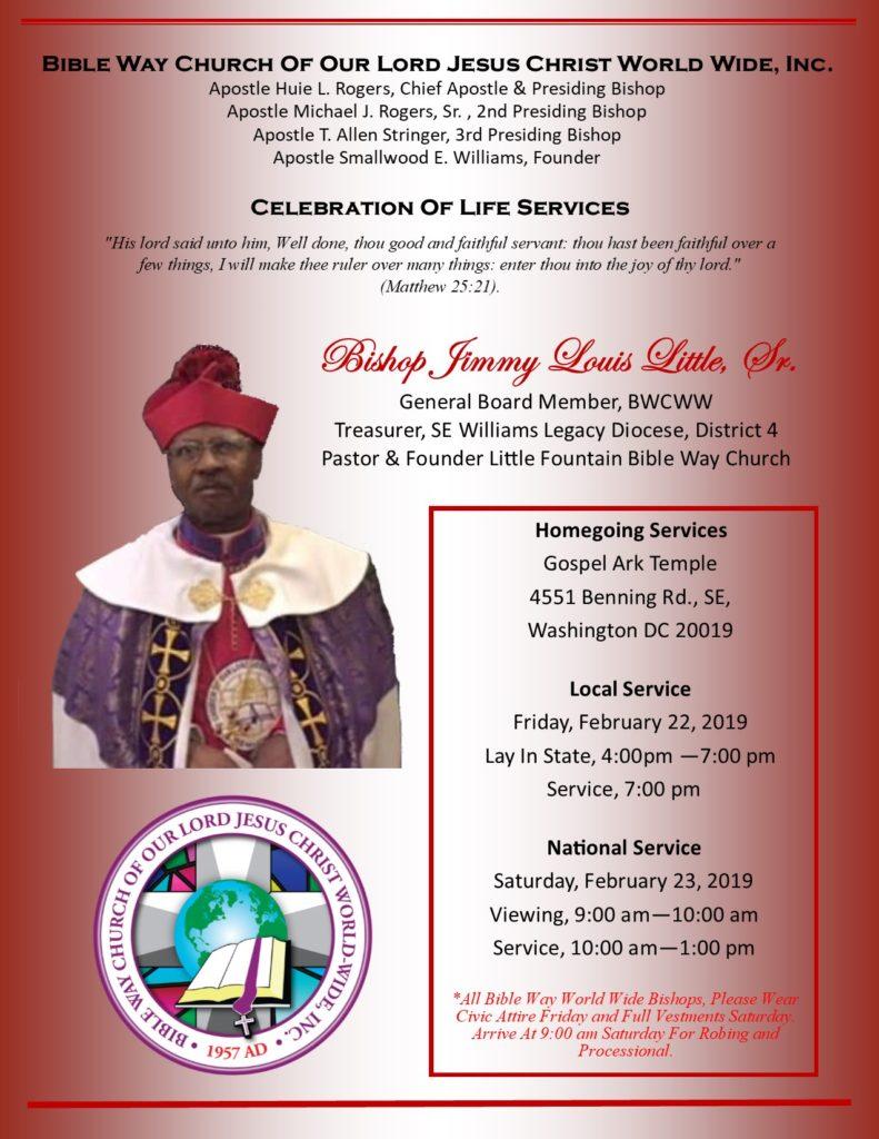 Bishop Jimmy L Little Funeral Announcement_Flyer_4